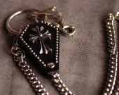Cross Nickel-plated iron/Genuine leather wallet chain 25.2in