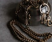 """Brass burnish steel cheese twisted wallet chain 31"""""""