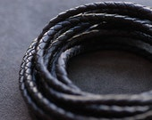 """Brown Synthetic Leather String 5mm / 196""""(in) Length -skullysupply-"""