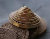 "5mm Glossy Gold Flat Leather Cord 35""  5pcs"