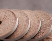 "4mm White Flat Leather Cord 35"" 5 pcs"