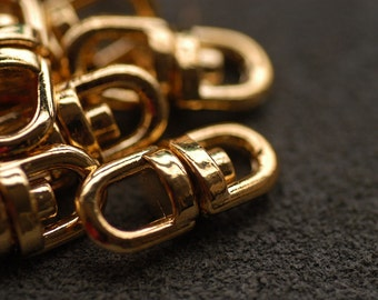 "Gold plated Swivel Connectors with 2 Loops 0.74"" 20 PCS"