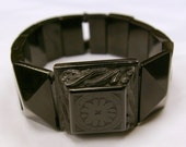 Beautiful Victorian Whitby Jet Bracelet Vintage Mourning Jewellery