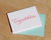 Congratulations, letterpress card