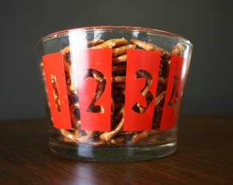 Bowl with Graphic Numbers