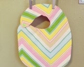 """Heather Bailey """"Zag Stripe"""" Print Baby Bib"""