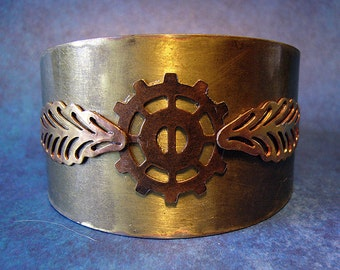 Icharus - Brass Steampunk Cuff
