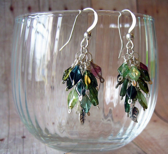 April Showers - Tourmaline and Sterling Silver Drop Earrings