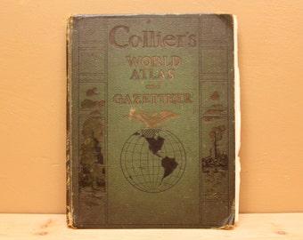 Vintage Collier  world atlas