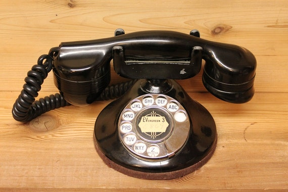 Bakelite Telephone American Monophone by Automatic Electric Company