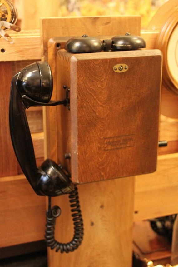 Phone Vintage Wall Wooden Telephone Made By Northern