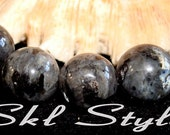 "ON SALE - Larvakite (Smoky Grey Labradorite/Norwegian Moonstone) - 15.5"" inch strand - 12mm smooth rounds"