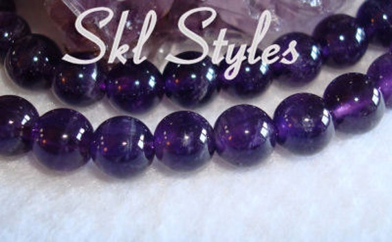 """Amethyst - 15.5"""" inch strand - 6mm smooth rounds"""