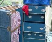 Vintage steamer wardrobe trunk