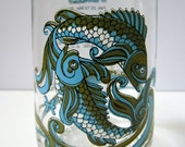 Vintage Pisces Astrological Glass Tumbler