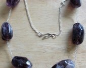 NECKLACE  with large Deep Purple Beads
