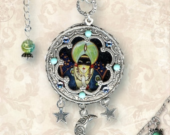 Fortune Teller Charm Necklace - Za Dee Da - The Flying Circus Collection - La Dame Fortune