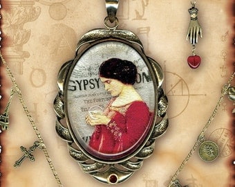 Fortune Teller Charm Necklace - Za Dee Da - The Mystic Seeker Colleciton - The Gypsy Psychic