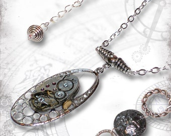 Deep Space Steampunk Necklace - Za Dee Da - The Time Traveller Collection - Dimensions in Time