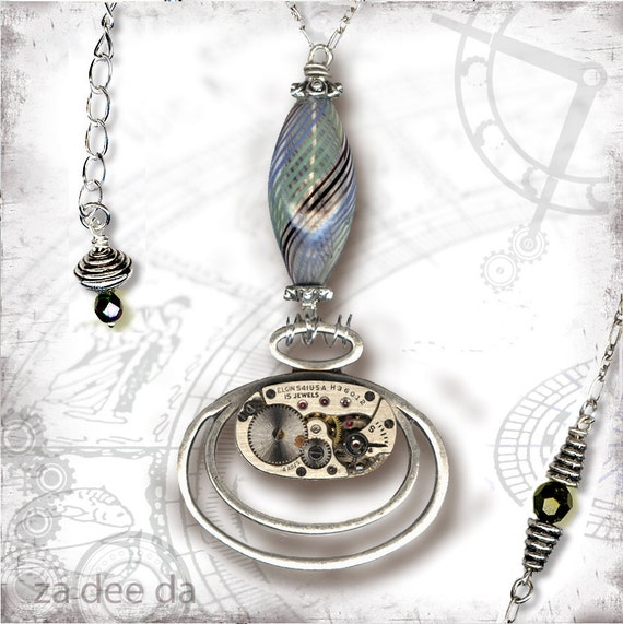 Time Warp Steampunk Necklace - Za Dee Da - Time Traveller Collection