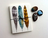 Driftwood Feather Cards - Blank Notecards - Art Cards