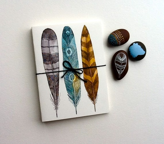 Driftwood Feather Notecards - Greeting Cards - Fine Art Cards