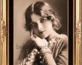 Vintage Photo Download Gladys Cooper Vintage Actress Card for ATC ACEO Background Tinted Collage Digital Mixed Media Print