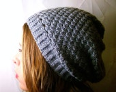 Gray Slouch Beanie