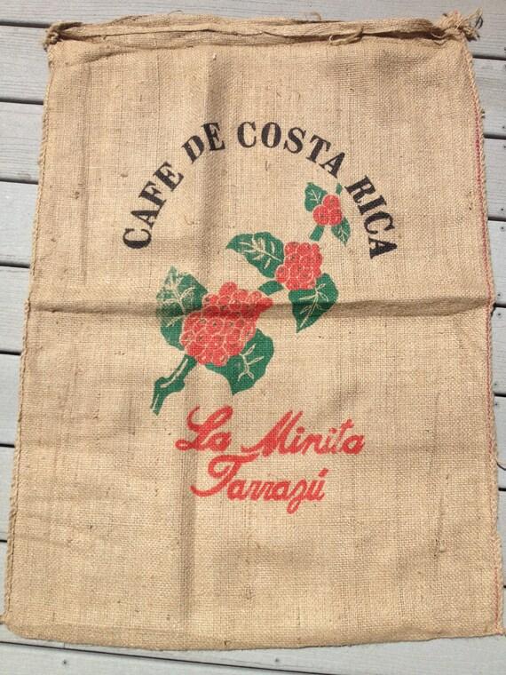 Burlap Coffee Sack,Bag - Sack Race Bag (Costa Rica)