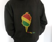 Mens Black Cotton Candy Rasta Cone Hoodie