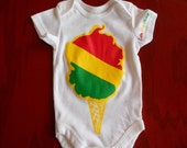 Original Cotton Candy Clothing Rasta Cone Onesie