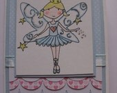 Blue fairy card