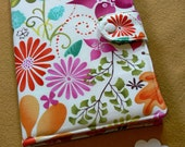 Kindle Cover, Kindle Fire cover, Kindle Touch cover, eReader Cover Book Style, Forest Floor in Bloom Terrain by Kate Spain,Made To Order