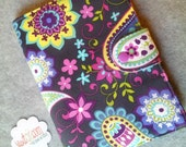 Nook Simple Touch eReader Cover Book Style,Paisley Spree in Gray Ready to ship Last one