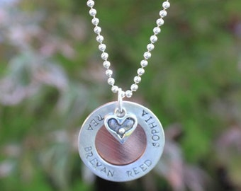 Hand Stamped Sterling Silver Necklace