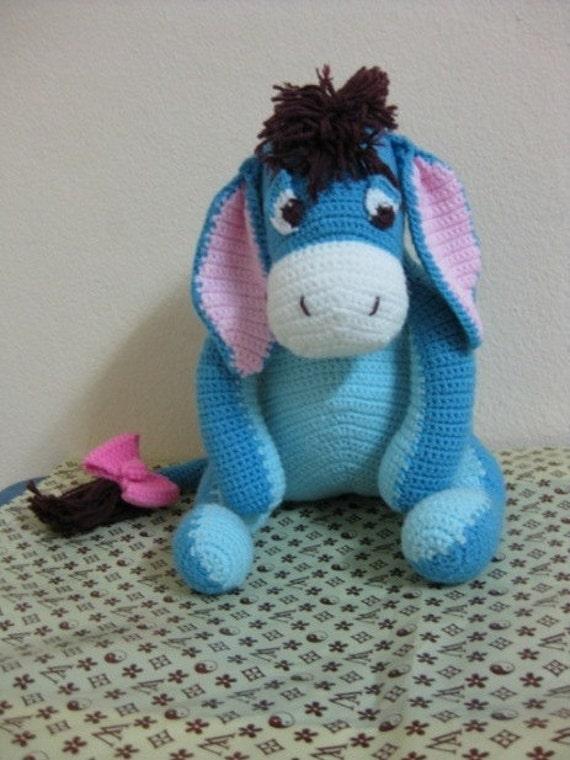 Crochet Amigurumi Eeyore : Items similar to Eeyore disney winnie the pooh cartoon ...