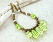 Lime Ethnic Necklace.