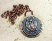 Copper Coin Pendant Antique Style