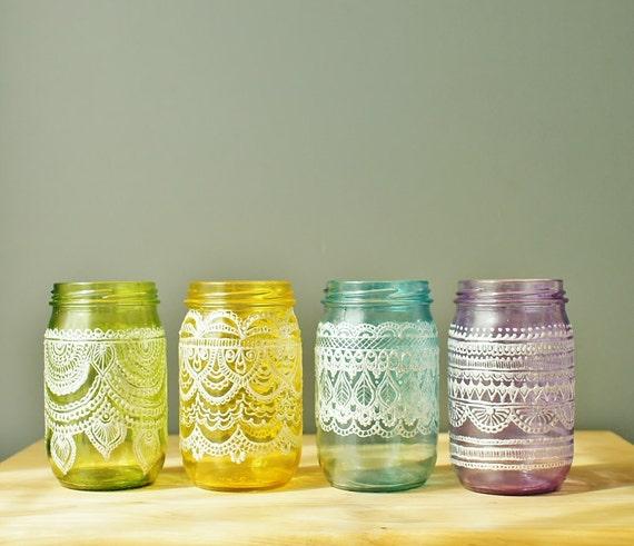 Festive Spring Mason Jars