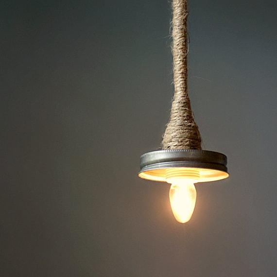 Mason Jar Pendant Lamp Kit- Turn Your LITdecor Mason Jar Lantern into a Hanging Pendant Lamp