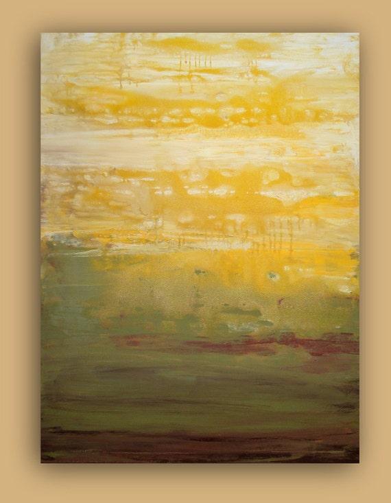 "RESERVED. MORNING MOSS. 30x40x3/4"".  Original Ora Birenbaum Acrylic Abstract Painting"