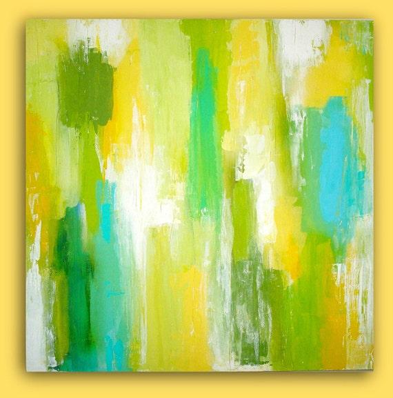 abstract yellow green drawing - photo #9