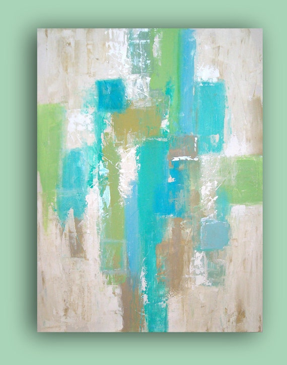 """Reserved. Abstract ART Reflection 30x40x3/4"""" by Ora Birenbaum Original Abstract Acrylic Painting Fine Art"""