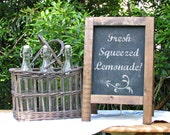 Vintage MINI Tabletop French Cafe Sidewalk Chalkboard, French Cafe Sign