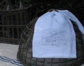 Vintage Flour Sack Tea Towel, French Advertisement, Cotton Tea Towel