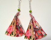 Origami Fan paper earrings