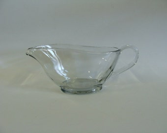 Anchor Hocking Clear Glass Gravy Sauce Bowl Boat 10 oz 1043, Mid Century Kitchenware