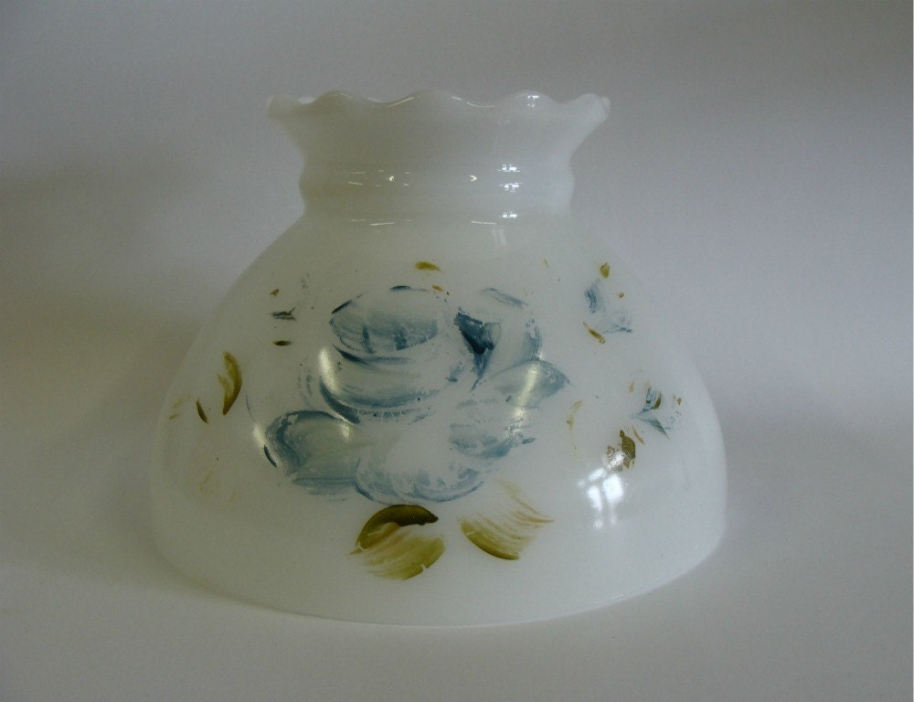 milk glass lamp shade hand painted lamp shade. Black Bedroom Furniture Sets. Home Design Ideas