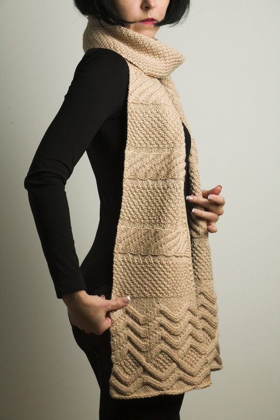 The Longest hand knitted special silky wool scarf in this shop