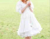 Robe de mariée style peplum vintage / Alice au pays des Merveilles